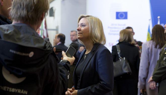 Η νυν υπουργός Οικονομικών της Σουηδίας.
