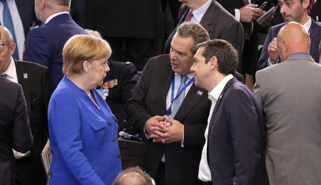 Ο υπουργός Άμυνας, Πάνος Καμμένος, στη Σύνοδο Κορυφής του ΝΑΤΟ στις Βρυξέλλες