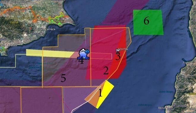 Κυπριακή Navtex για άσκηση με πραγματικά πυρά στο '3' της ΑΟΖ