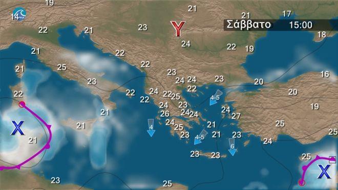 Καιρός: Χωρίς βροχές τα επόμενα 24ωρα - Βοριάδες έως 6 μποφόρ