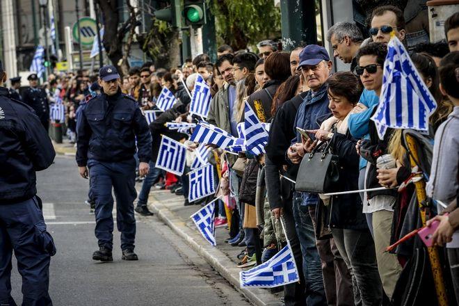Προετοιμασίες για την στρατιωτική παρέλαση για την επέτειο της 25ης Μαρ΄τιου 1821, στην Αθήνα, Κυριακή 25 Μαρτίου 2018. (EUROKINISSI/ΓΙΑΝΝΗΣ ΠΑΝΑΓΟΠΟΥΛΟΣ)