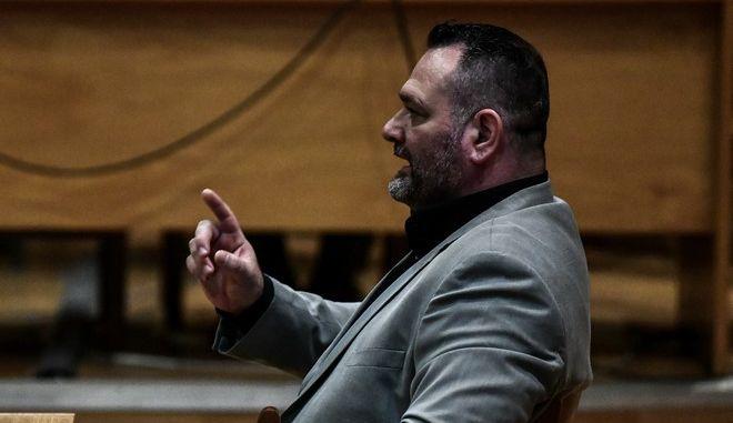 Απολογία του κατηγορούμενου για διεύθυνση εγκληματικής οργάνωσης Γιάννη Λαγού στην δίκη της Χρυσής Αυγής