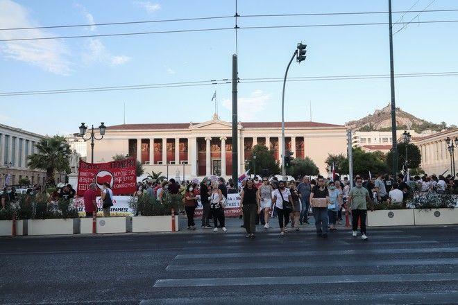 Πανακπαιδευτικό συλλαλητήριο στην ΑΘήνα την Πέμπτη 17 Σεπτεμβρίου 2020. (EUROKINISSI/ΒΑΣΙΛΗΣ ΡΕΜΠΑΠΗΣ)
