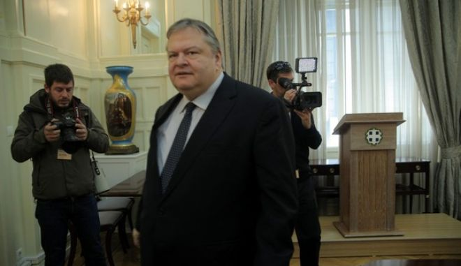 ΑΘΗΝΑ-Συνάντηση του αντιπροέδρου της κυβέρνησης και υπουργού Εξωτερικών Ευάγγελου Βενιζέλου με εκπροσώπους της Ένωσης Περιφερειών Ελλάδος.(EUROKINISSI-ΚΩΣΤΑΣ ΚΑΤΩΜΕΡΗΣ)