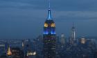Το Empire State Building στη Νέα Υόρκη, στα χρώματα της Ευρωπαϊκής Ένωσης
