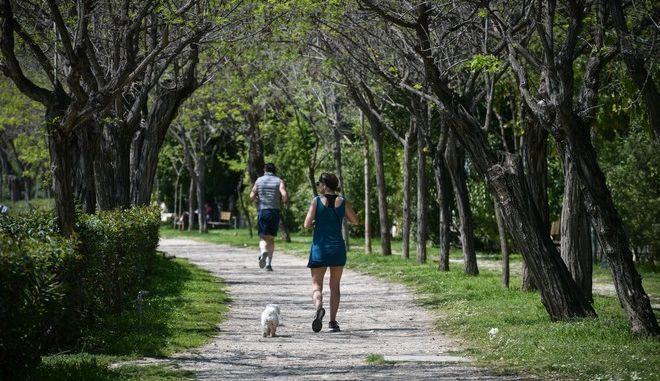 Έξοδος για σωματική άθληση και βόλτα με το κατοικίδιο