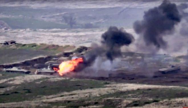 Εικόνα από τις συγκρούσεις Αρμενίας-Αζερμπαϊζάν στο Ναγκόρνο Καραμπάχ
