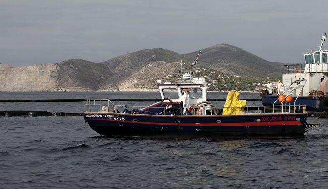 Σκάφη στην περιοχή της Σαλαμίνας