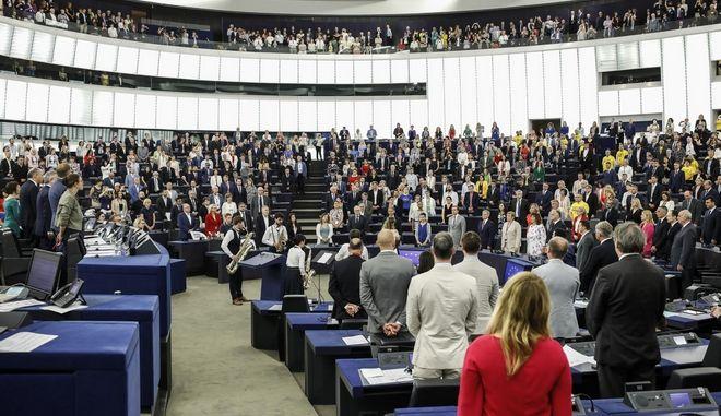 Στιγμιότυπο από την έναρξη των εργασιών του Ευρωπαϊκού Κοινοβουλίου στο Στρασβούργο