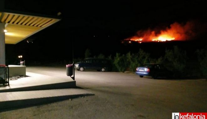 Πυρκαγιά στη Σκάλα Κεφαλονιάς