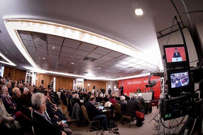 Στιγμιότυπο από τη συνεδρίαση της Κεντρικής Επιτροπής ΣΥΡΙΖΑ