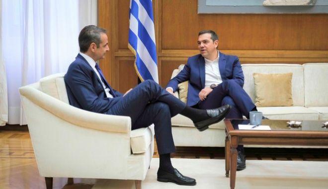 Συνάντηση του πρωθυπουργού με τον πρόεδρο του ΣΥΡΙΖΑ