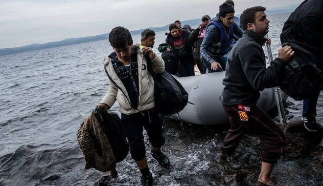Φωτό αρχείου: Άφιξη προσφύγων στην Λέσβο