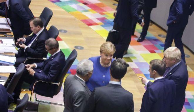 Εικόνα από σύνοδο κορυφής στις Βρυξέλλες