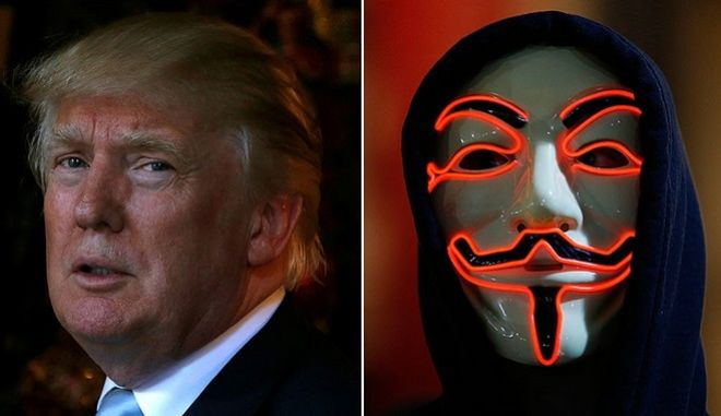Οι Anonymous απειλούν τον Τραμπ: Έχεις μπλεχτεί στα σκ@τ@. Θα μετανιώσεις τα επόμενα 4 χρόνια