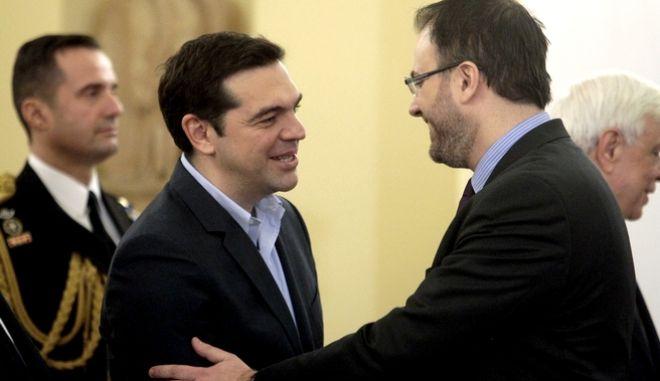 Αλέξης Τσίπρας και Θανάσης Θεοχαρόπουλος