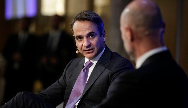 """Συζήτηση του Κυριάκου Μητσοτάκη στο συνέδριο του ελληνοαμερικανικού επιμελητηρίου """"Η ώρα της Ελληνικής Οικονομίας"""""""