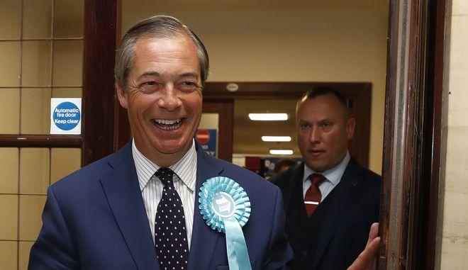 Ο αρχηγός του Κόμματος Brexit Νάιτζελ Φάρατζ