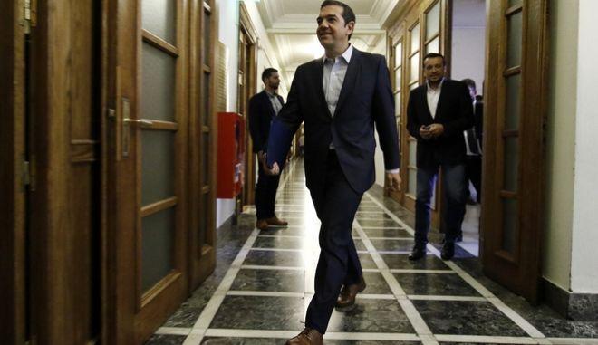 Ο Πρωθυπουργός Αλέξης Τσίπρας στην συνεδρίαση του Υπουργικού Συμβουλίου