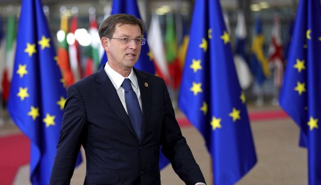 FILE - A Thursday, Dec. 14, 2017 file photo of Slovenian Prime Minister, Miro Cerar arriving for an EU summit at the Europa building in Brussels. Cerar said Wednesday, March 14, 2018 that he is resigning after the countrys top court annulled last years referendum on a key railway project and ordered a new vote. Miro Cerar says that he has sent his resignation to parliament. (AP Photo/Olivier Matthys, File)
