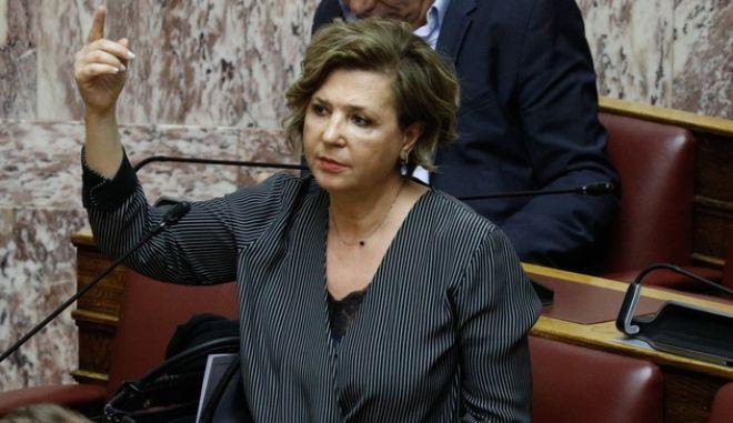 η Γραμματέας της ΚΟ ΣΥΡΙΖΑ Προοδευτική Συμμαχία, Όλγα Γεροβασίλη.