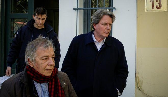 Ο πρώην βουλευτής Νίκος Γεωργιάδης στα δικαστήρια της οδού Ευελπίδων