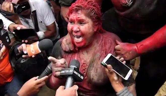 Βολιβία: Αντικυβερνητικοί διαδηλωτές διαπόμπευσαν μια δήμαρχο