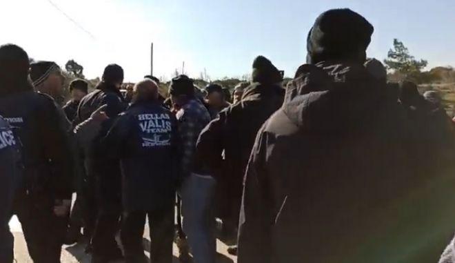 Συγκέντρωση κατά μεταναστών στη Σάμο