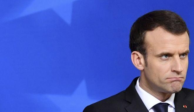 Ο Γάλλος πρόεδρος Εμανουέλ Μακρόν (Geert Vanden Wijngaert)