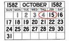 Ημερολόγιο 1582: Οι δέκα μέρες του Οκτωβρίου που δεν υπήρξαν ποτέ