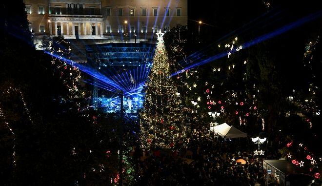 Χριστουγεννιάτικο δέντρο στην Αθήνα