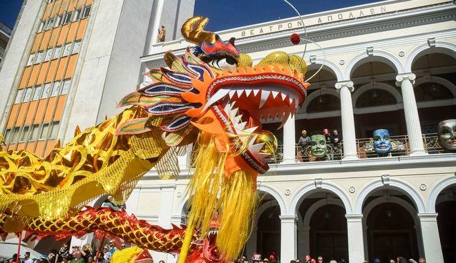 Στιγμιότυπο από το καρναβάλι της Πάτρας. Φωτό αρχείου.