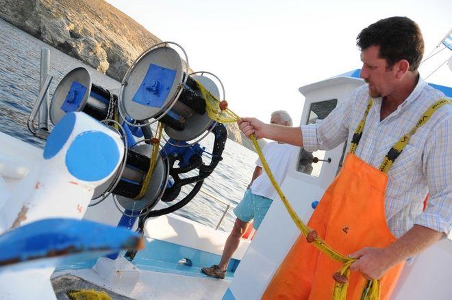 Ο ψαράς Δημήτρης Ζαννές στην Άνδρο