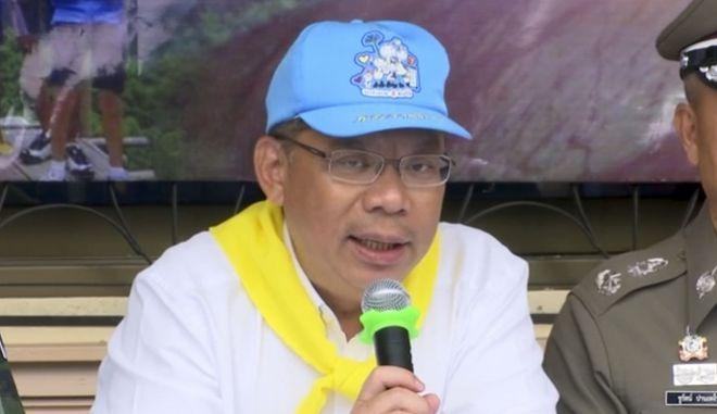 Ο κυβερνήτης της επαρχίας Chiang Rai και επικεφαλής των επιχειρήσεων διάσωσης, Narongsak Osatanakorn