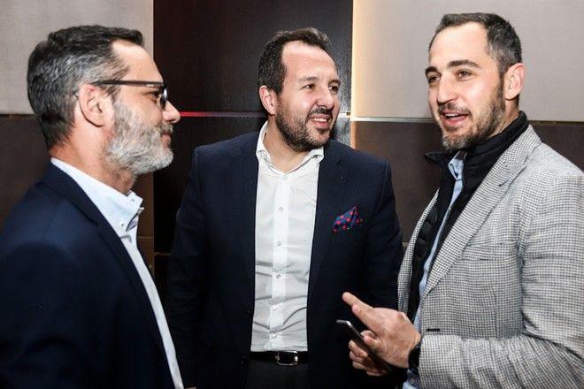 Από αριστερά: Πάνος Βελαχουτάκος, Σταύρος Δρακουλαράκος και Πάνος Κωνσταντόπουλος