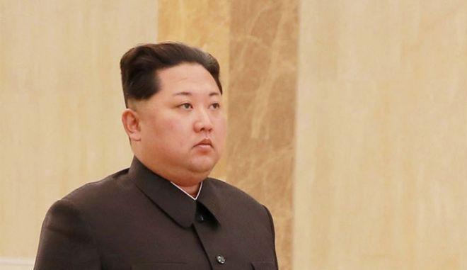 O πρόεδρος της Βόρειας Κορέας Κιμ Γιονγκ Ουν