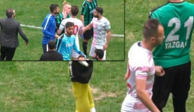 Τιμωρήθηκε δια βίου ο παίκτης που χαράκωσε αντίπαλο στην Τουρκία