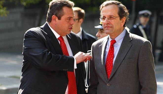 Ο Σαμαράς ποντάρει σε κυβέρνηση εθνικής ενότητας, οι ΑΝΕΛ ήδη απορρίπτουν αυτό το σενάριο