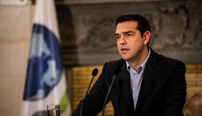 Greek Prime Minister Alexis Tsipras received Secretary-General of the Organisation for Economic Co-operation and Development (OECD), Jose Angel Gurria Trevino, at Maximos Mansion, in Athens, Greece on Feb. 11, 2015. /        Jose Angel Gurria Trevino,   , ,   11 , 2015.