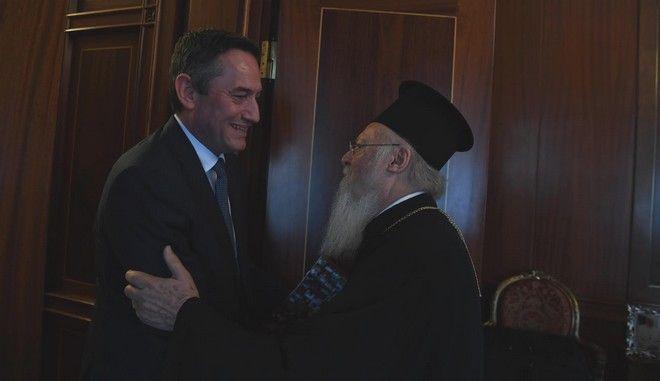 Συνάντηση του Οικουμενικού Πατριάρχη με τον πρόεδρο της 24Media