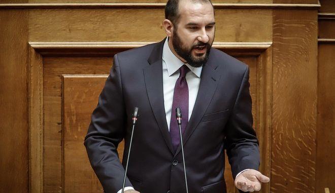 Ο Δημήτρης Τζανακόπουλος στην Βουλή