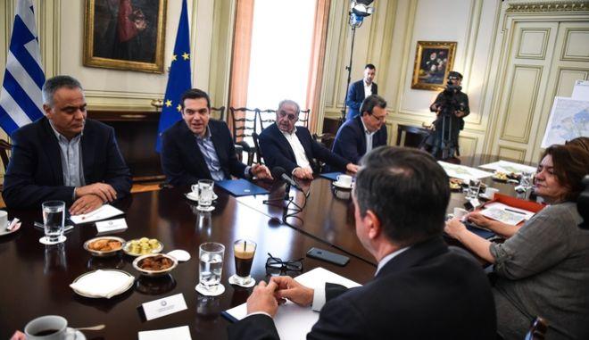 Σύσκεψη υπό τον Πρωθυπουργό, Αλέξη Τσίπρα για τη δημιουργία Μητροπολιτικού Πάρκου στο Γουδή, την Τρίτη 5 Ιουνίου 2018. (EUROKINISSI/ΤΑΤΙΑΝΑ ΜΠΟΛΑΡΗ)