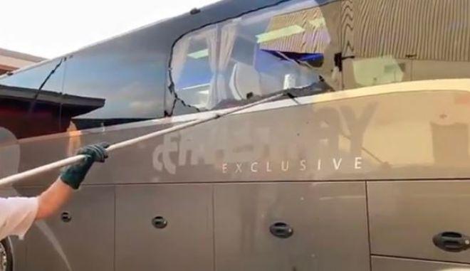 """Λίβερπουλ - Ρεάλ: Έσπασαν παράθυρο στο πούλμαν των """"μερέγκες"""""""