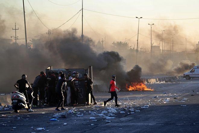 Στιγμιότυπο από τις διαδηλώσεις στο Ιράκ, Βαγδάτη