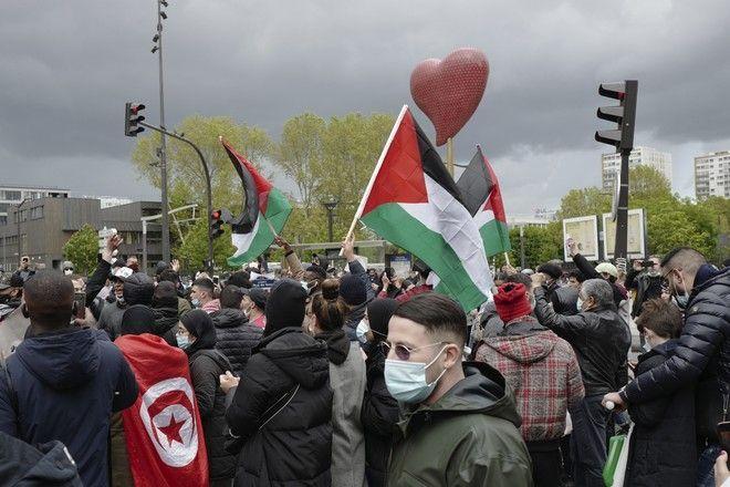 Διαδήλωση υπέρ των Παλαιστινίων στη Γαλλία