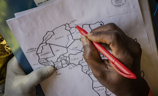 Η Λιβύη στον χάρτη της Αφρικής