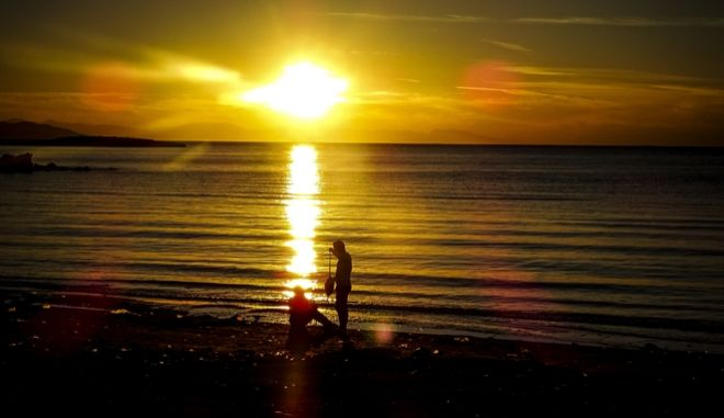 Δύση ηλίου στο Καβούρι Αττικής