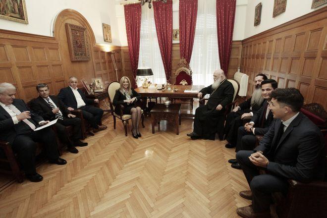 Συνάντηση του Αρχιεπισκόπου Ιερώνυμου με την πρόεδρο του ΚΙΝΑΛ Φώφη Γεννηματά