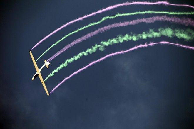 """ΤΑΝΑΓΡΑ """"ATHENS FLYING WEEK """" AIR SHOW ΑΝΕΜΟΠΤΕΡΟ  (EUROKINISSI/ ΠΑΝΑΓΟΠΟΥΛΟΣ ΓΙΑΝΝΗΣ)"""
