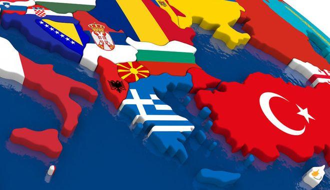 Χάρτης των Βαλκανίων